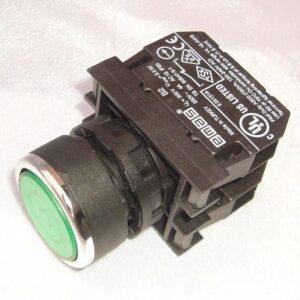 Кнопка зеленая с подсветкой М22 4А