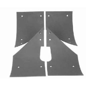 Комплект истираемых листов (броня) растворонасоса пневмонагнетателя BR Центральный выход 6 мм